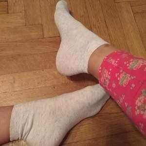 Béžové melírované ponožtičky
